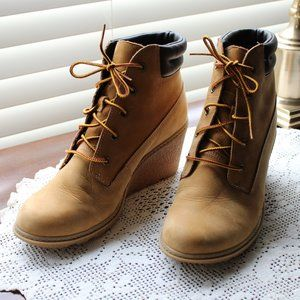 Timberland: Wedge Ankle Boots (Women's 8.5 US)